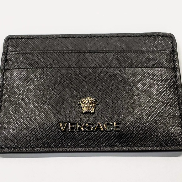 Versace Other - Versace Saffiano Slim Leather Credit Card Wallet